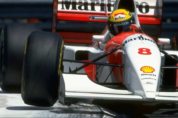 Ayrton Senna - GP de Mônaco de 1993 (Foto: Getty Images)