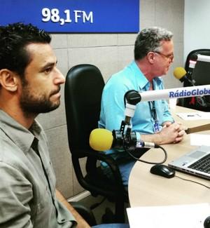 Fred do Fluminense na Rádio Globo (Foto: Reprodução / Instagram)