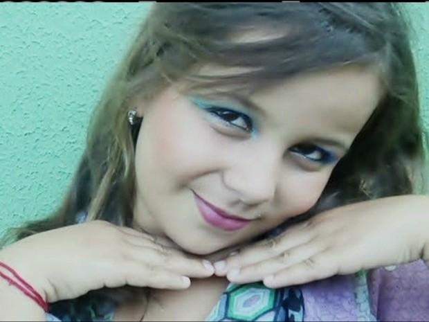Morre menina baleada ao defender o pai, em Aparecida de Goiânia, GO (Foto: Reprodução Globo News)