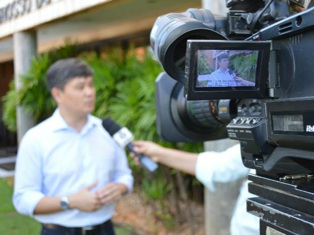 Maurício Saito, presidente da Famasul destacou importância da educação para o agronegócio (Foto: Anderson Viegas/Do G1 MS)