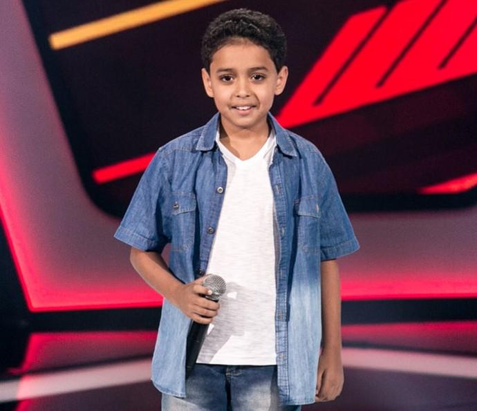 Igor Silveira de apresenta nas Audições do The Voice Kids (Foto: Isabella Pinheiro/Gshow)