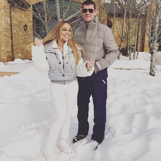 Mariah Carey com o namorado James Packer (Foto: Instagram / Reprodução)