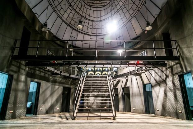 Presídio fictício que serviu de cenário para o seriado Supermax (Foto: Globo/Paulo Belote)