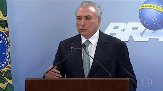 'Brasil não parou e não vai parar', afirma Temer após protestos