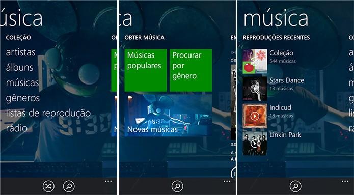 Xbox Music é o player de música padrão do Windows Phone com suporte a reprodução no OneDrive (Foto: Divulgação/Windows Phone Store)