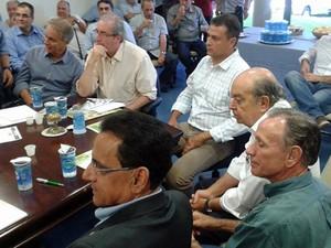 Eduardo Cunha participa de reunião com representantes do setor do agronegócio em Uberaba (Foto: Alex Rocha/G1)