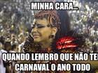 Caras e bocas de famosos no carnaval viram memes