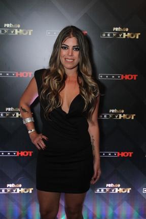 Raquel Pacheco, a Bruna Surfistinha, em prêmio pornô em São Paulo (Foto: Amauri Nehn/ Brazil News)