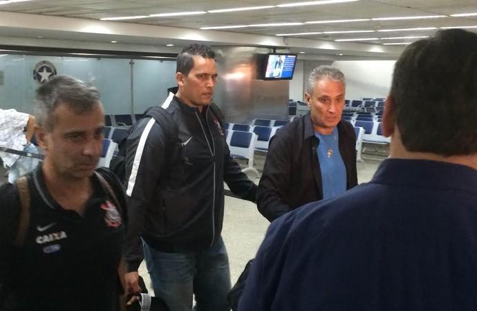 Corinthians desembarque Tite (Foto: Diego Ribeiro)