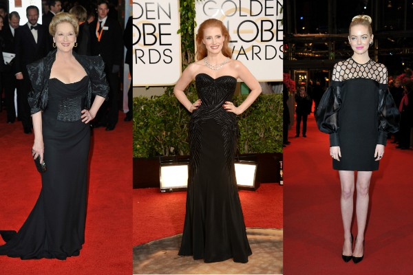 Meryl Streep, Jessica Chastain e Emma Stone (Foto: Getty Images)