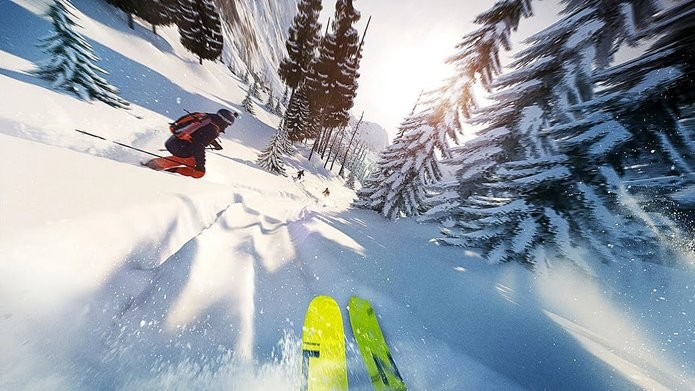 O esqui é apenas um dos esportes radicais disponíveis em Steep (Foto: Divulgação)