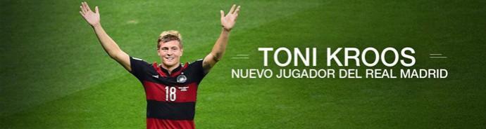 Reprodução Site Real Madrid Toni Kroos  (Foto: Reprodução / Site Oficial do Real Madrid)