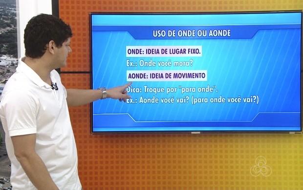 Professor de Roraima dá dicas de língua portuguesa (Foto: Bom Dia Amazônia)