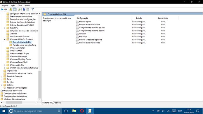 Windows 10 traz diversas condições para criação de PINs complexos (Foto: Reprodução/Elson de Souza)