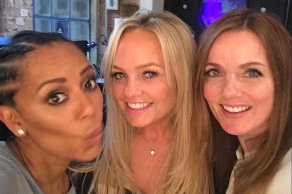 As três Spice Girls que deverão estar presentes na reunião da banda: Mel B, Geri Horner e Emma Bunton (Foto: Instagram)