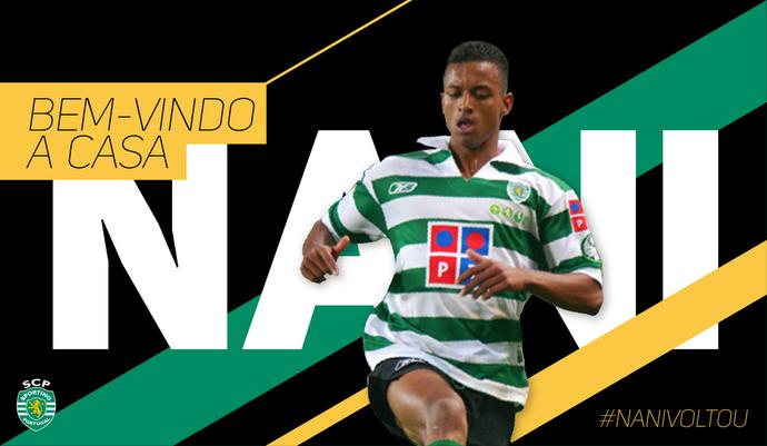 Nani Sporting (Foto: Divulgação/Twitter Oficial Sporting)