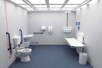 Um banheiro ideal pra deficiente  (Foto: Reprodução)