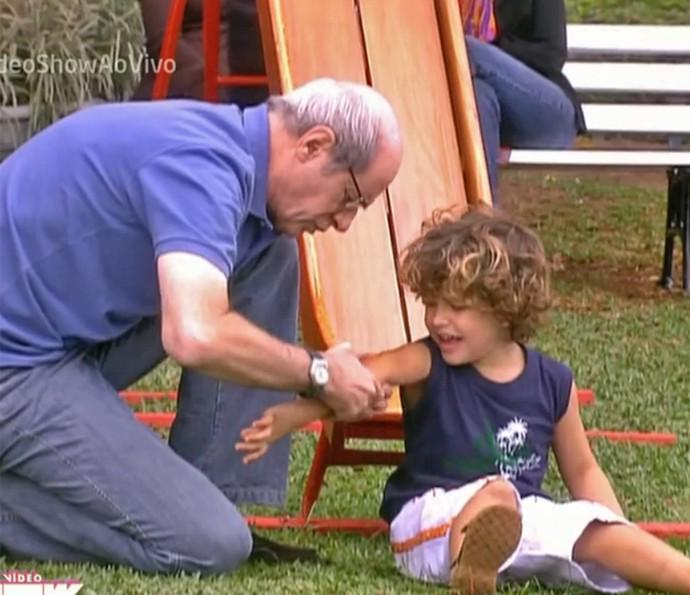 Reveja Marcos Caruso e Gabriel Kaufmann em 'Páginas da Vida' (Foto: Vídeo Show / TV Globo)