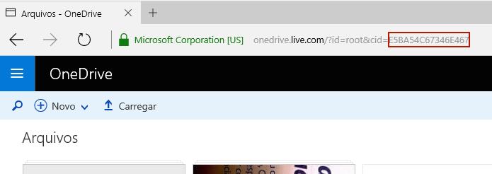 Copiando o ID único da conta OneDrive (Foto: Reprodução/Edivaldo Brito)