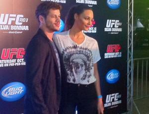 Débora Nascimento e José Loreto, UFC RIO III (Foto: Amanda Kestelman / Globoesporte.com)