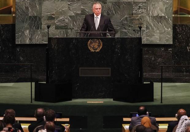 Michel Temer abre em Nova York a Assembleia Geral da ONU (Foto: Beto Barata/PR)