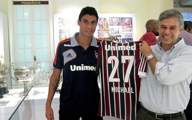 Michael Fluminense sala de troféus  (Foto: Rafael Cavalieri)