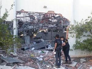 Prédios foram alvo de tiros em Sonoro (Foto: Polícia Civil de MS / Divulgação)
