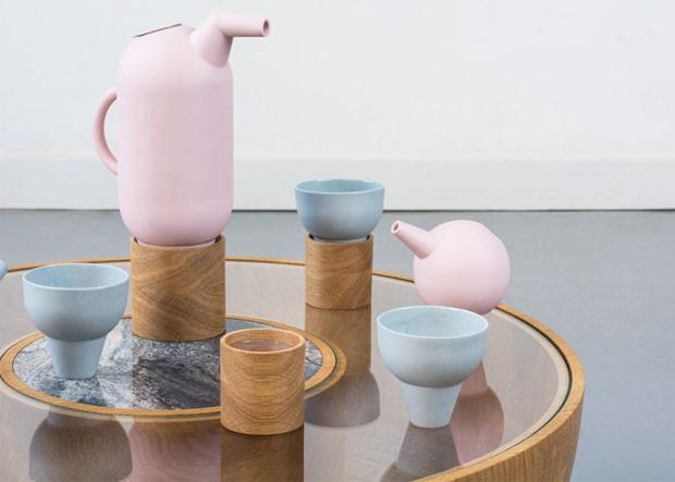 A elegância dos flamingos traduzida em porcelana (Foto: Divulgação)