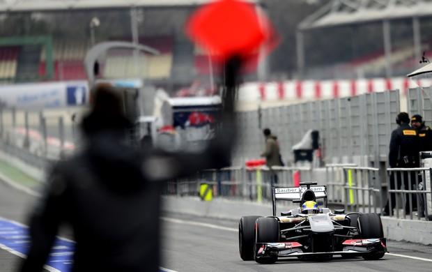 Esteban Gutierrez Sauber testes Barcelona (Foto: Agência Getty Images)