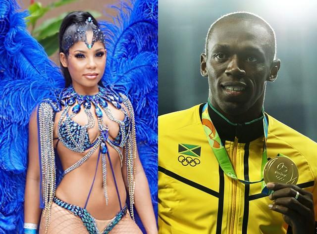 Kasi Bennett e Usain Bolt (Foto: Instagram/Reprodução e Getty Images)