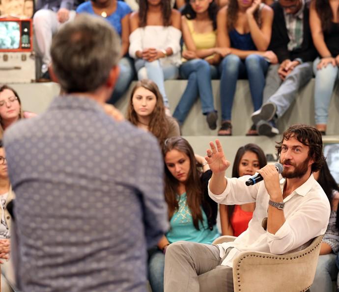 Gabriel Braga Nunes participa da gravação do 'Altas Horas'  (Foto: Carol Caminha/Gshow)
