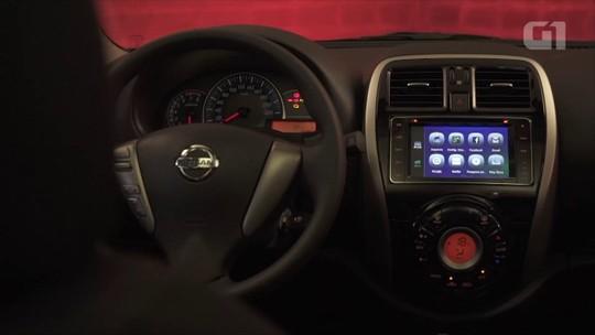 Nissan Versa: G1 avalia central multimídia