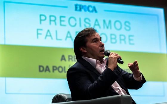Rodrigo Maia no debate sobre renovação política (Foto: João Castelano - Época)