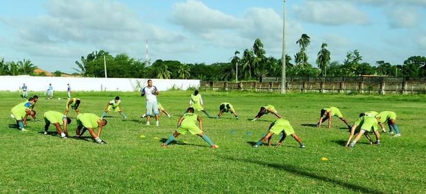 Parnahyba faz treino físico para Série D (Foto: Torcida Azulina)