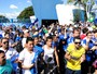Torcida vai  Toca II para acompanhar