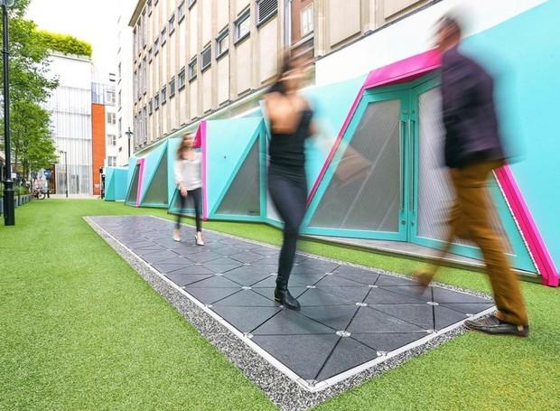 Smart Street em Londres, desenvolvida pela empresa de tecnologia Pavegen (Foto: Reprodução/Pavegen)