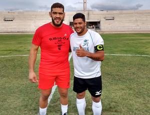 Hulk, Pezão, pelada beneficente, Estádio Amigão (Foto: Iago Bruno / GloboEsporte.com/pb)