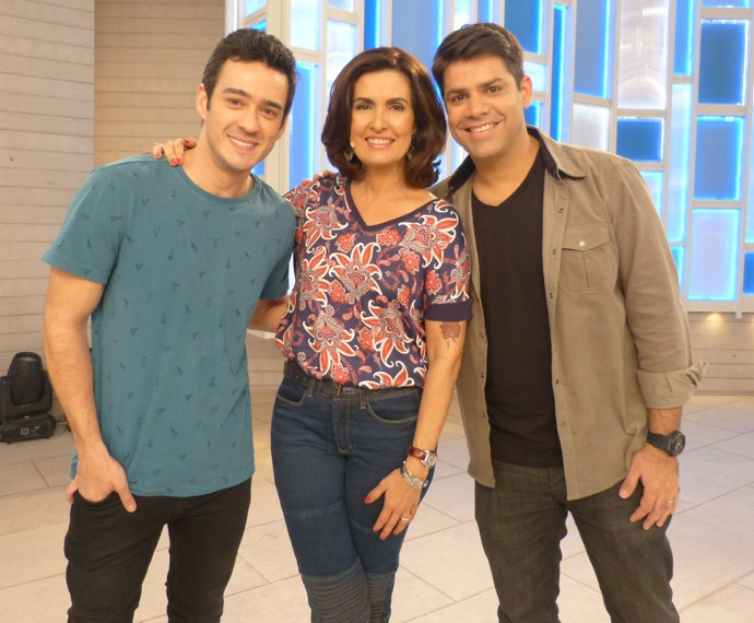 Com Marcos Veras e Lair Rennó (Foto: Marcele Bessa / Gshow)