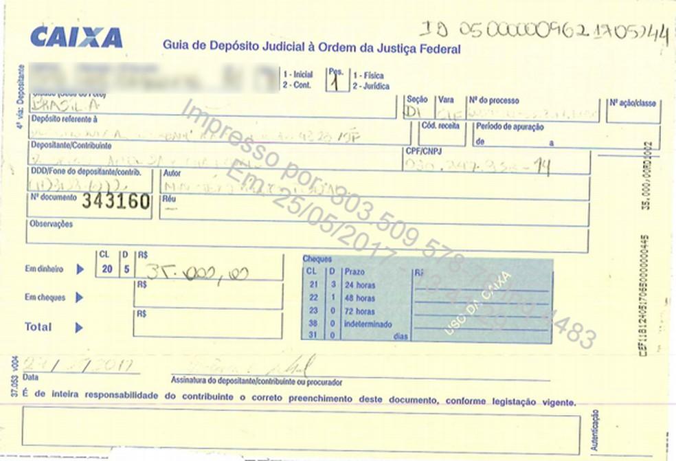 Rocha Loures entregou ao STF comprovante de depósito de R$ 35 mil que faltavam na mala de dinheiro que entregou (Foto: Reprodução)
