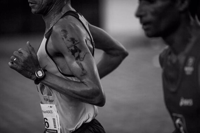 Franck Caldeira maratona tatuagens (Foto: Arquivo Pessoal)