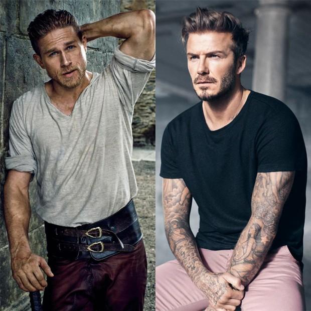 Charlie Hunnam e David Beckham (Foto: Reprodução)