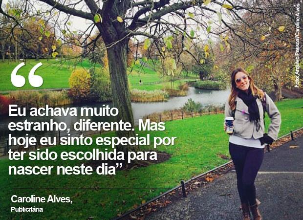Caroline Alves, de 24 anos, comemora aniversário na Irlanda (Foto: Arquivo pessoal/Caroline Alves)