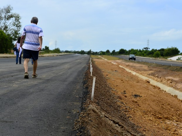 Obra da rodovia Leste Oeste está entre as paralisadas no ES (Foto: Bernardo Coutinho/ A Gazeta)