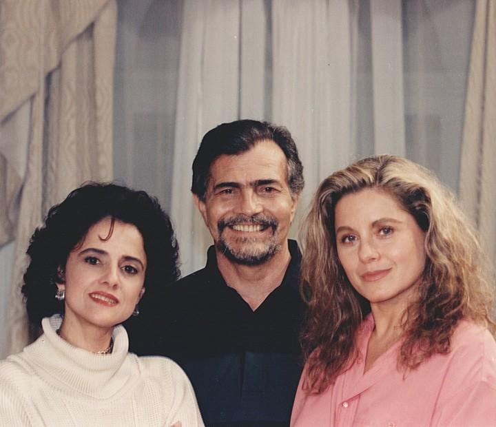 Em Pátria Minha, Vera Fischer atuava com Marieta Severo e Tarcísio Meira (Foto: Cedoc / TV Globo)