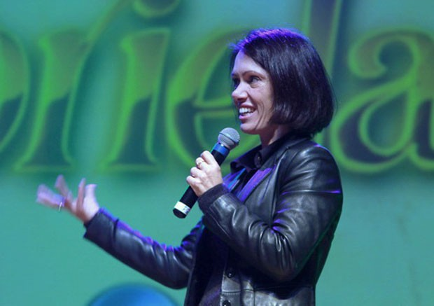 Gabriela em Curitiba (Foto: Euricles Macedo/RPC TV)
