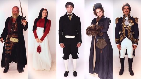 Figurino de 'Novo Mundo': elenco se veste e apresenta personagens