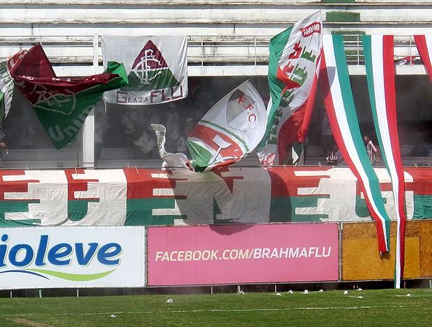 torcida do Fluminense no treino (Foto: Rafael Cavalieri / Globoesporte.com)