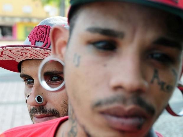 Olhos pintados (Foto: Dhárcules Pinheiro / Arquivo Pessoal)