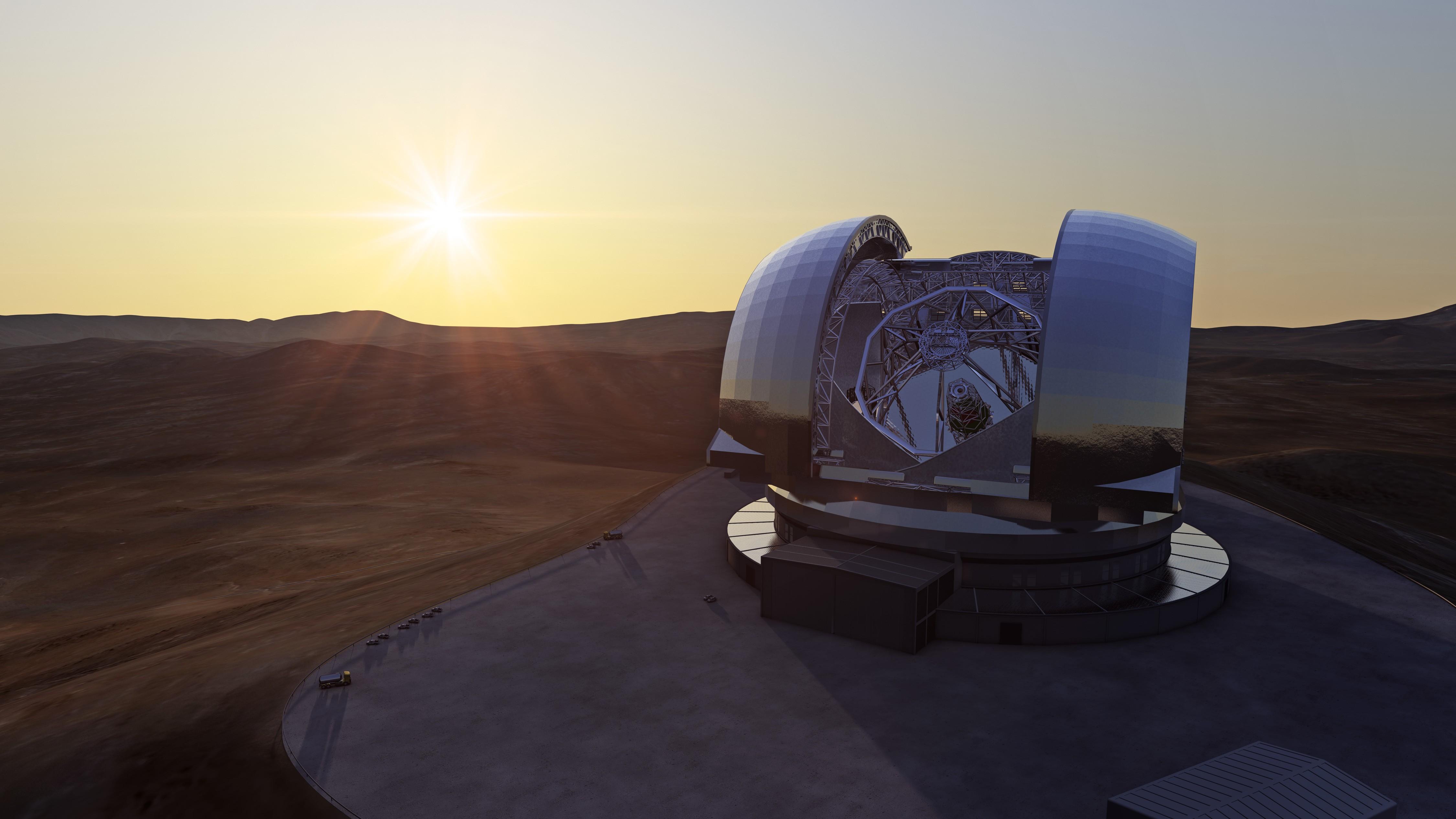 Concepção artística do E-ELT: maior telescópio da história deve ficar pronto em uma década (Foto: ESO/L. Calçada)