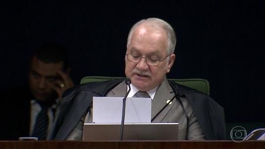Fachin vota por continuar à frente das investigações das delações da JBS